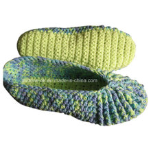 Custom OEM Handmade Knit Crochet Wool Slippers Shoes Socks